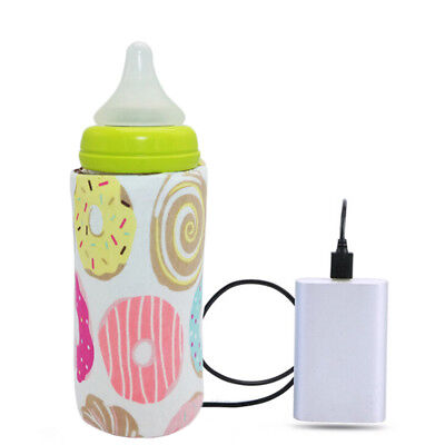 Used, Portable Bottle Warmer Heater Travel Baby Kids Milk Water USB Covers Pouch Softs for sale  USA