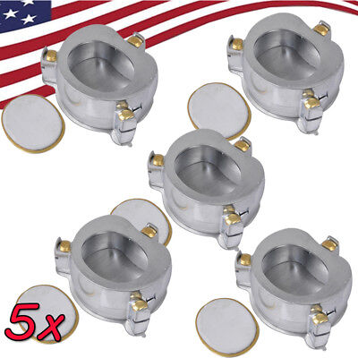 5x Dental Flask Aluminium Denture Compressor Parts Lab Denture Curing Heating