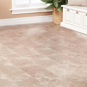 200+ SQ FT Laminate Travertine Tile Grey Flooring 8 mm Thick NEW
