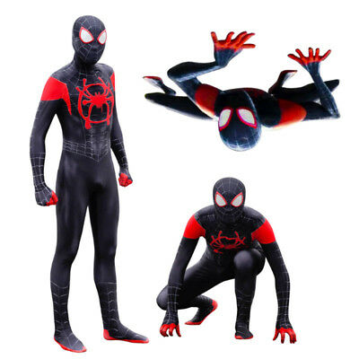 Spider-man Into the Spider-Verse Miles Morales Cosplay Custume Jumpsuit & - Spiderman Custume
