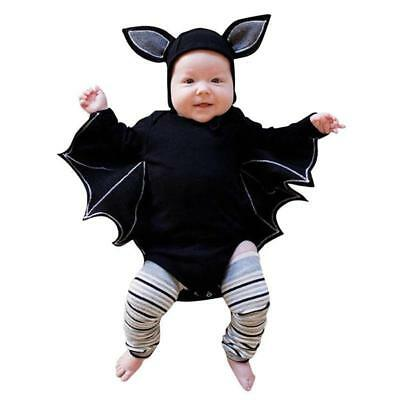 Toddler Halloween Fancy Dress Bat Vampire Costume Outfit Jumpsuit Baby Cosplay](Toddler Bat Costumes)