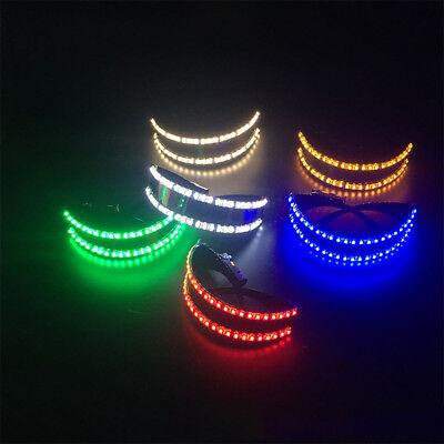 LED Stage Lights DJ Glasses Goggles Party Nightclub Music Bar Halloween - Halloween Party Night Club Music