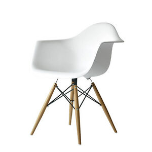 BRAND NEW. White Molded Chair Great for Office or Livingroom