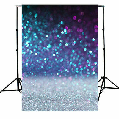 US 3x5/5x7ft Blue Flashing Glitter Photography Backdrop Wedding Party Photo Prop](Wedding Photo Backdrop)