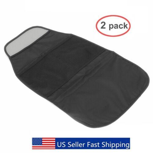 Set of 2 Packs Car Seat Back Protector - Kids Kick Mat with 2 Pockets