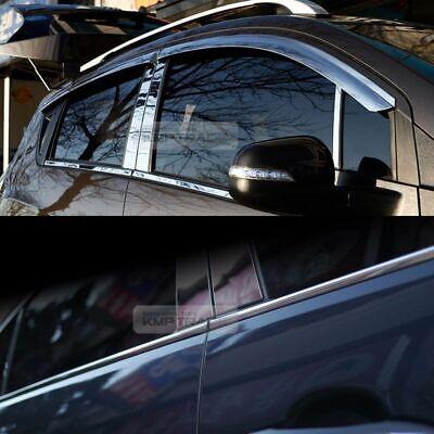 Smoke Emblem Window Vent Visor Molding Front Hood Guard for KIA 11-16 Sportage R
