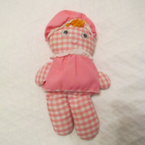1975 FISHER PRICE LOLLY POUPEE #420 ROSE ET BLANCHE VINTAGE.