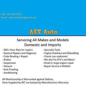 AST Auto Repair - Service all Makes and Models, ALL REPAIRS