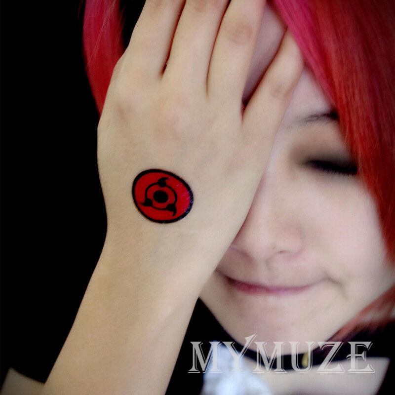 Naruto Madara Uchiha Tobi Cosplay Tattoo Sticker Sharingan Tatoo Ebay