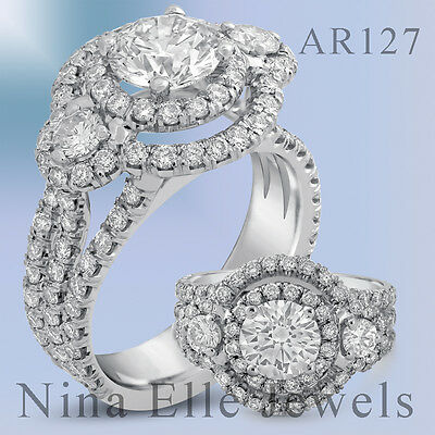 2.62CTW ROUND CUT ANTIQUE STYLE DIAMOND ENGAGEMENT RING AR129