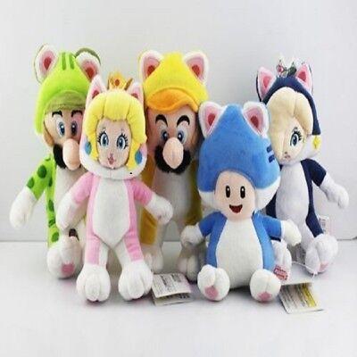 Super Mario 3D World Soft Plush Doll CAT Luigi Peach Rosalina Toad Kids Gift Toy - Mario Rosalina