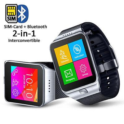 Indigi Innovative Swap Gear Bluetooth Smartwatch Wireless Phone Caller ID Touch Screen