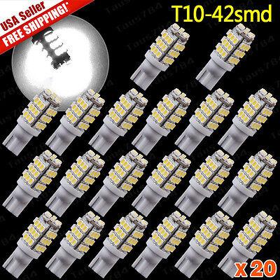 20 Pure White T10 921 194 Rv Trailer 42 Smd 12V Backup Reverse Led Lights Bulbs