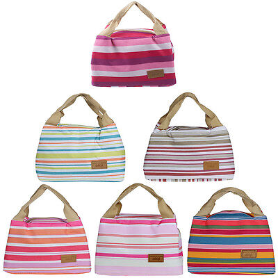 New Arrival Thermal Insulated Lunch Box Tote Cooler Zipper Bag Bento Lunch Pouch