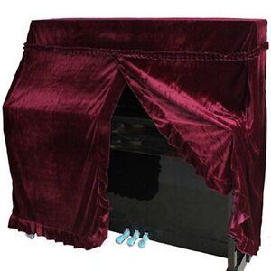 Red Elegant Pleuche Upright Piano Cover All Covers Full Size 152x60x110cm