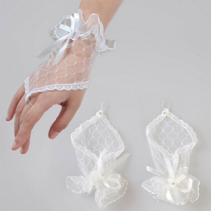 Sexy Women Evening Wedding Party Prom Fingerless Bridal Costume Lace Gloves US Clothing, Shoes & Accessories