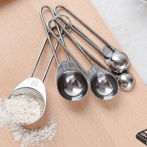 Metal  Measuring Spoons Spice Jars Spoon Cup Baking Cooking