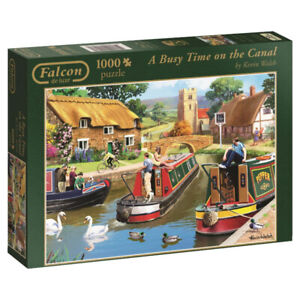 FALCON DE LUXE 1000 PUZZLE A BUSY TIME ON THE CANAL COMME NEUF