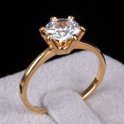 GIA Certified 0.40 Carats F/VS1 Round Brilliant Cut Diamond Ring In 585 14K Gold