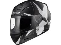 LS2 FF352 Rookie Brilliant Matt Black Titanium Motorcycle Helmet