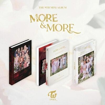 TWICE MORE & MORE Mini Album [ 3 set ] CD Photobook Photocard Coastercard DHL