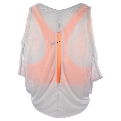 Nike WMNS Pro Inside Breathe Tank Top 2in1 831252-045 Platinum Lava Glow Size S