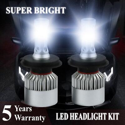 H4 9003 HB2 2000W 300000LM LED Headlight Bulbs COB kit 6000K White Lamps Light