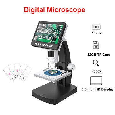 1000x Hdmi Lcd Rechargeable 14mp Video Microscope Magnifier Camera For Computer