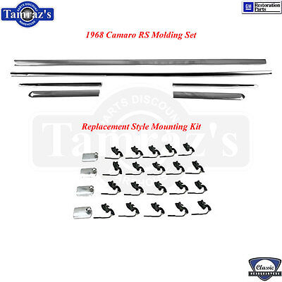 68 Camaro Quarter Panel - 68 Camaro RS Fender Door Quarter Rocker Panel Chrome Molding Moulding Trim SET