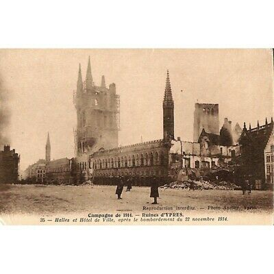Ieper / Ypres - Campagne de 1914. Ruines d'Ypres.