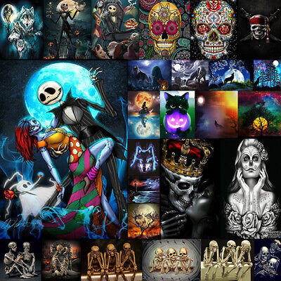 Halloween DIY 5D Diamond Embroidery Painting Cross Stitch Craft Home Decoration](Diy Halloween Decoration)
