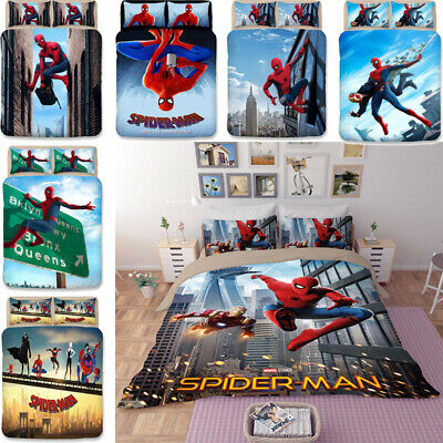 Spider-Man Twin Full Queen King Size Duvet Quilt Cover High-quality Bedding Set  ()