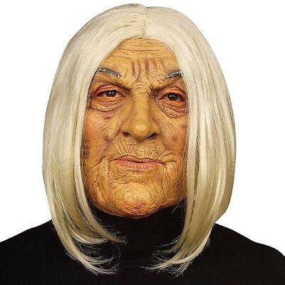 Maske Oma mit Haar Alte Frau Großmutter Omi Hexe Karneval Halloween #846