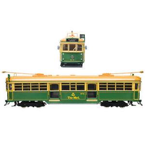 NEW W6 Melbourne Tram - Green Rattler The Met # 975 Diecast Model 1:76 HO Scale