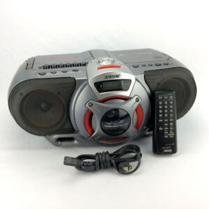 Sony Stereo Boombox With Remote Control CFD-G55 Power Drive Sub