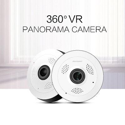 USA Stock VR13 960P 360D FishEye Panoramic WebCam Wireless WiFi Camera IP Camera