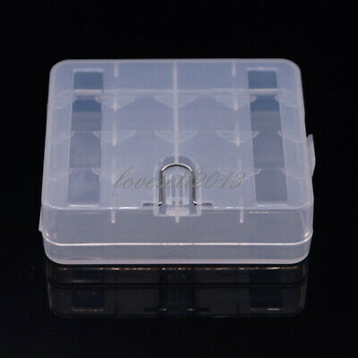 1pcs Portable Hard Plastic Battery Case Holder Storage Box For 4x18650 Batteries