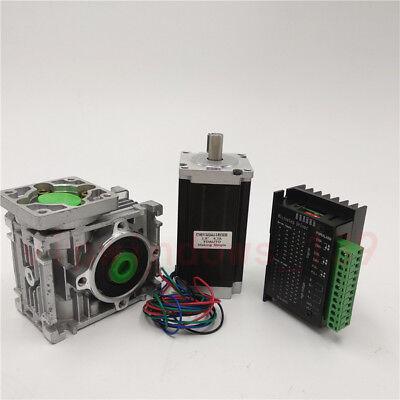 Nema23 1.8nm Stepper Motor Drive Controller L76mm Worm Gearbox 201 Reducer Kit