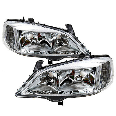 VAUXHALL ASTRA G MK4 1998-2004 HEADLIGHTS HEADLAMPS 1 PAIR DRIVERS & PASSENGERS