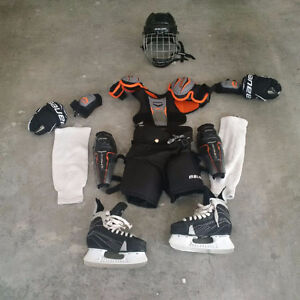 Child's hockey gear, including skates - $100 or nearest offer