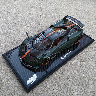 BBR 1:18 Scale Pagani Huayra BC 2016 Carbon Fibre Green Car Model Limited 20pcs