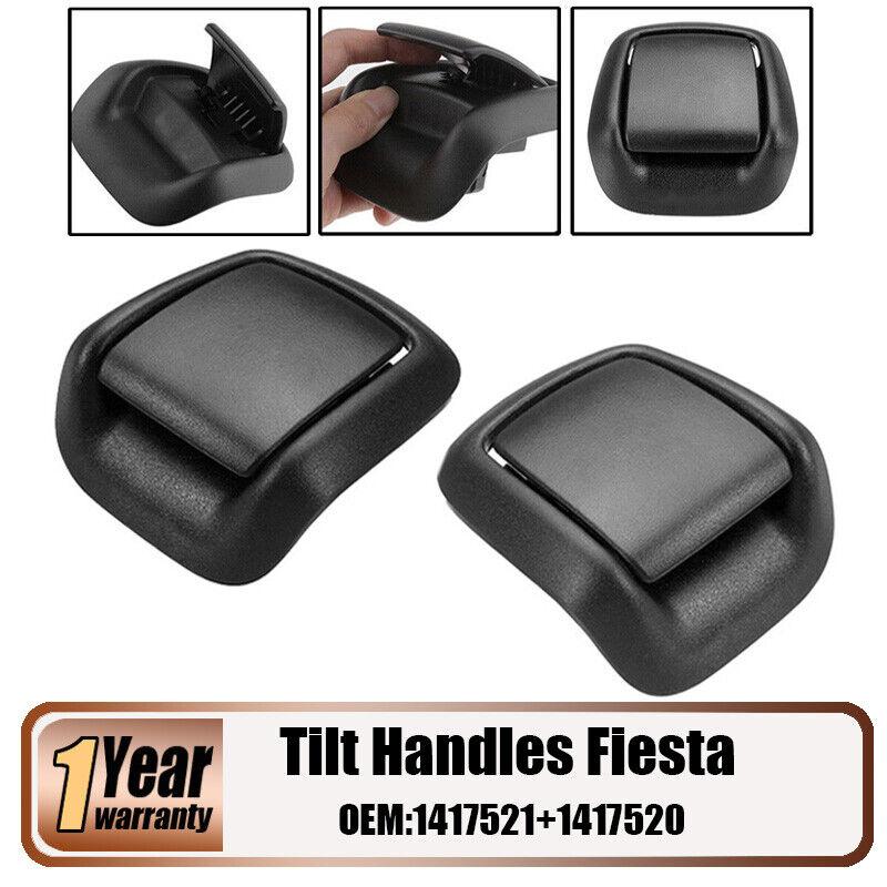 Car Parts - Black Plastic Seat Tilt Handle Front Left + Right For 02-08 Ford Fiesta MK6 VI