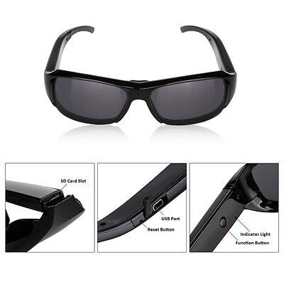 HD 1080P Hidden Camera Digital Eyewear Spy Glasses DVR Video Recorder Sunglasses