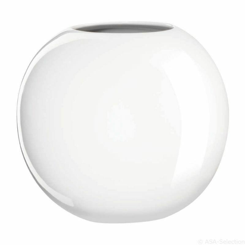 ASA Selection Orbit Vase Blumenvase Blumentopf Pflanzen Keramikvase Weiß 17 cm