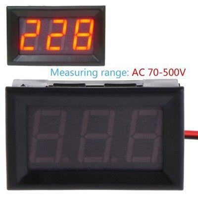 Ac 70-500v Digital Voltmeter 0.56 Inch Red Led 2 Wire Volt Voltage Test Meter