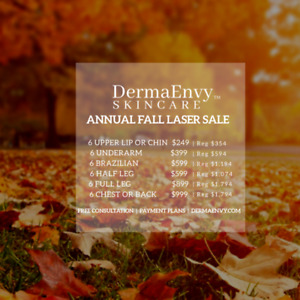 DERMAENVY ANNUAL FALL LASER SALE  | Save up to 60%
