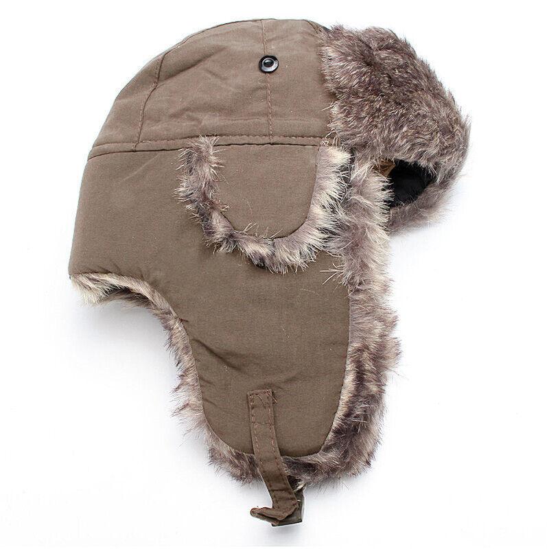 Men Aviator Bomber Hat Faux Fur Lining