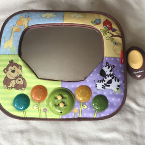 Baby Mirror for Car with Remote, Music and lights