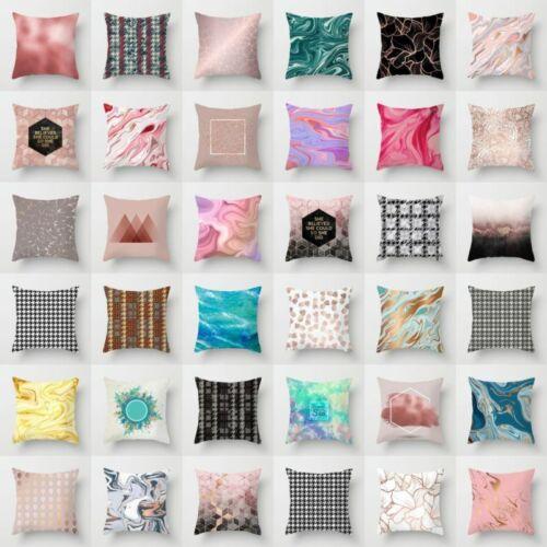 "18"" Marbling Pillow Case Polyester Sofa Car Throw Cushion Co"