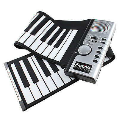 61 Keys Flexible Foldable Soft Portable Electric Digital Roll up Keyboard Piano on Rummage